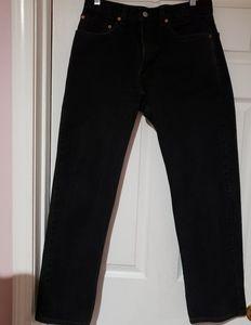 LEVI'S 505 Black denim 5 pocket jean W32 xL30